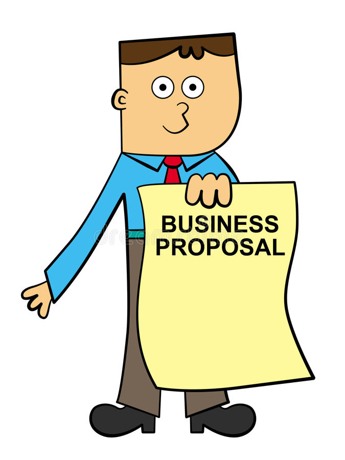 Business Proposal Stock Illustrations.