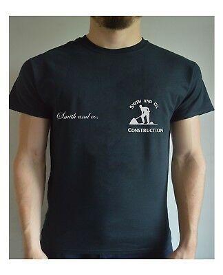 JOB COMPANY CUSTOM BUSINESS Printed T Shirt Personalised.