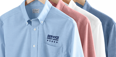 Business shirts with Logos.