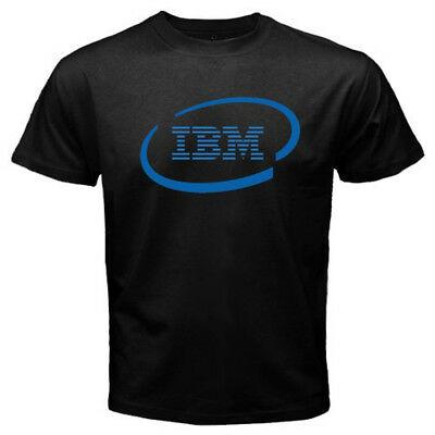 New IBM International Business Machines Logo Men\'s Black T.