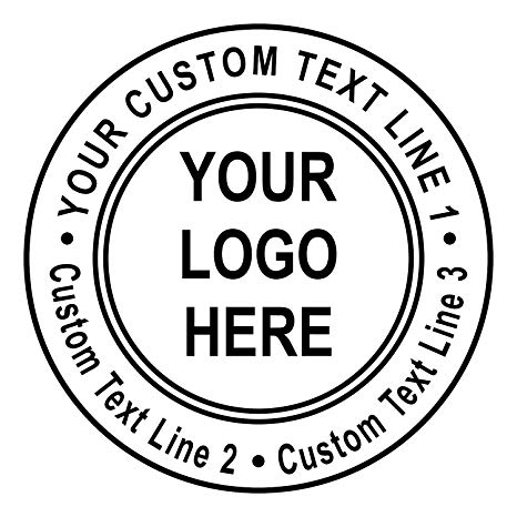 Amazon.com : Custom Logo Double Round Border Stamp.