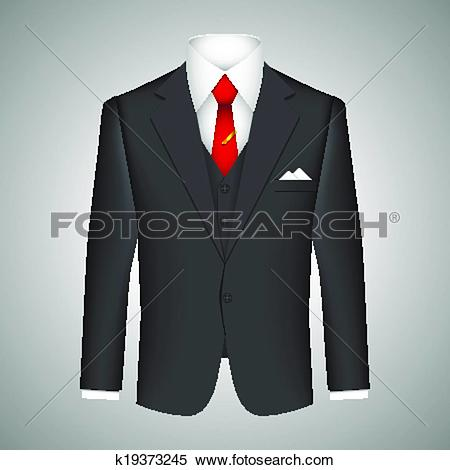 Clipart of Business suit concept k19373245.