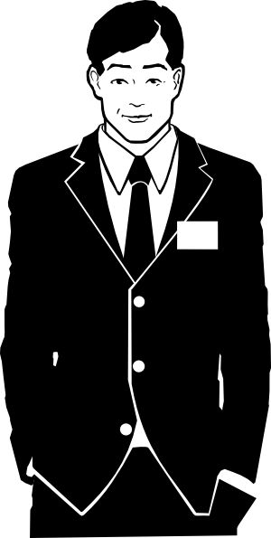 Business Man In Suit Clipart.