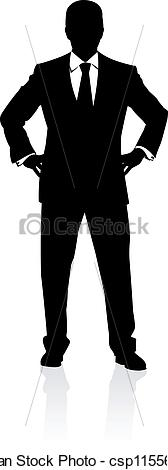 Man in business suit clipart.