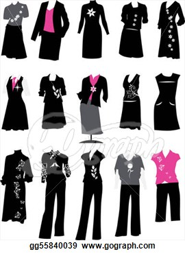 Women Business Suit Clipart.