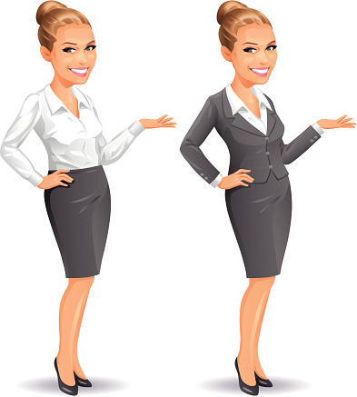 Young Business Women Clip Art, Vector Images & Illustrations.