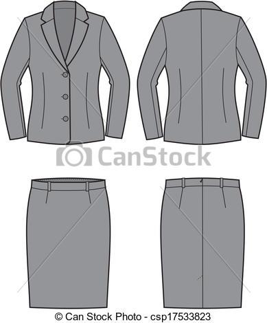 Women Business Suit Clipart.