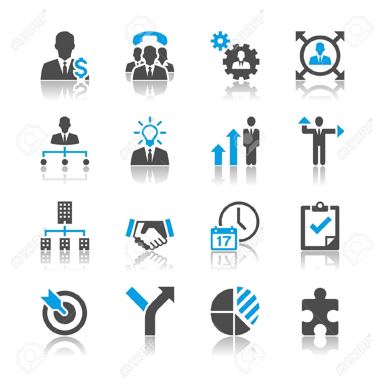 Business sales multi task icon free clipart.