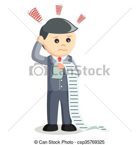 Vector Illustration of Business man list task csp35769325.