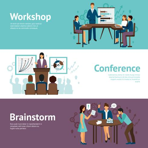 Horizontal Banners Of Business Training.