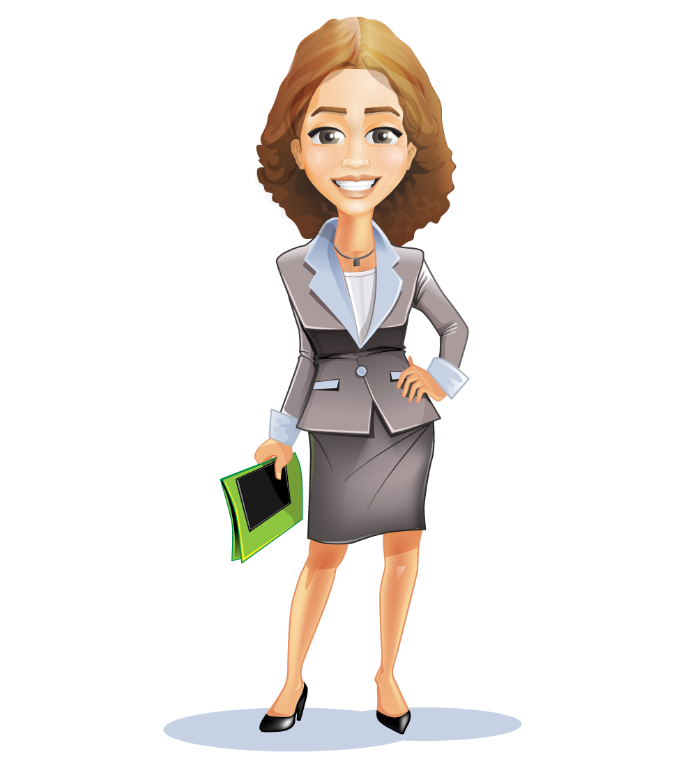 Business About Women Clipart.