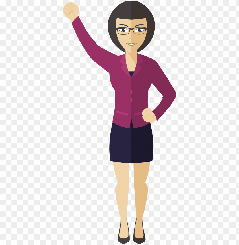 clipart flat shaded business woman big image png.