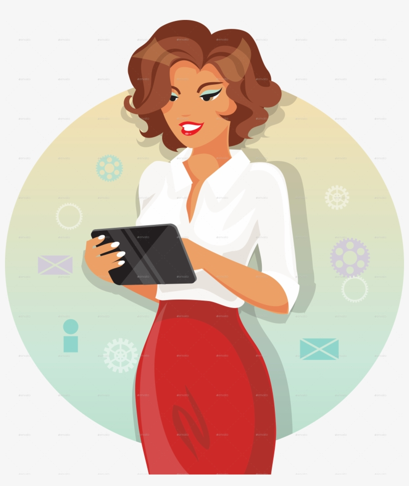Businesswoman Clipart Png Download.