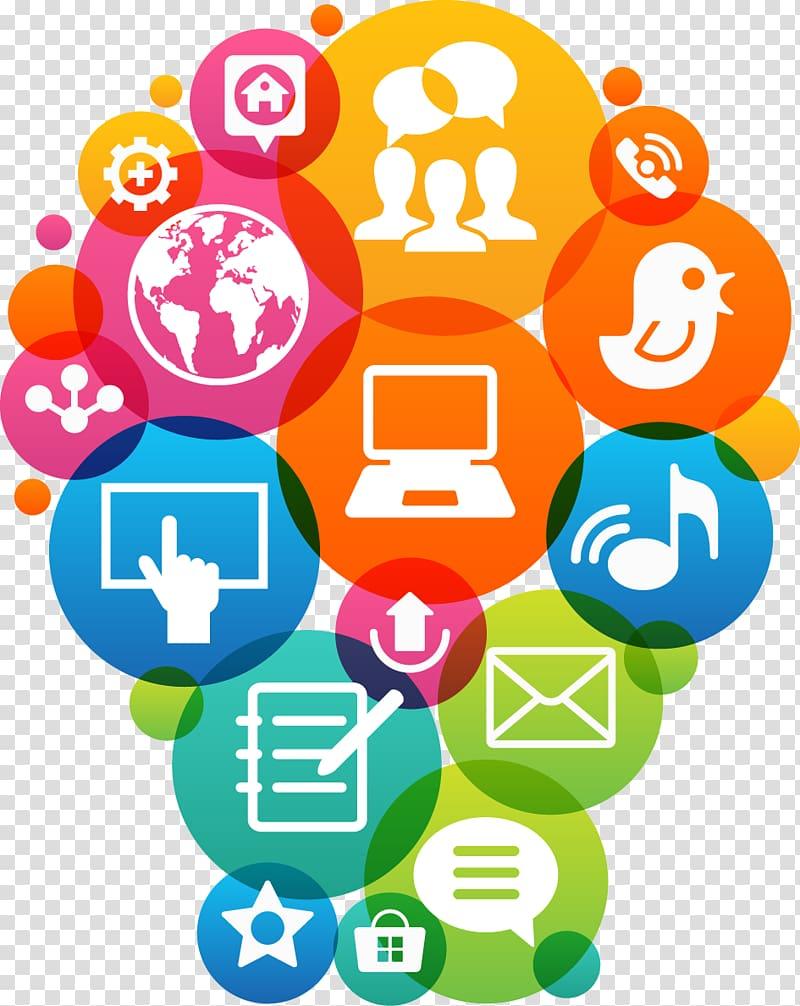 Social media illustration, Digital marketing Marketing.