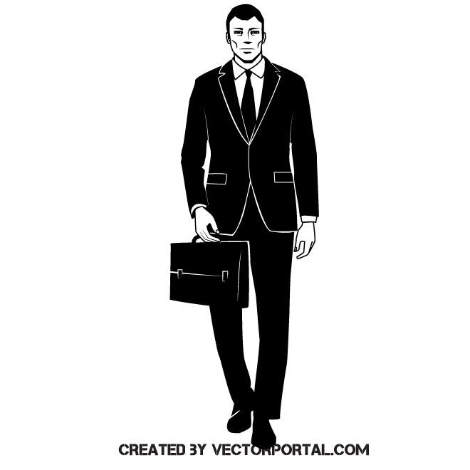 Businessman clip art vector image.