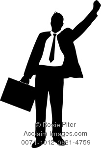 Businessman clipart black and white, Businessman black and.