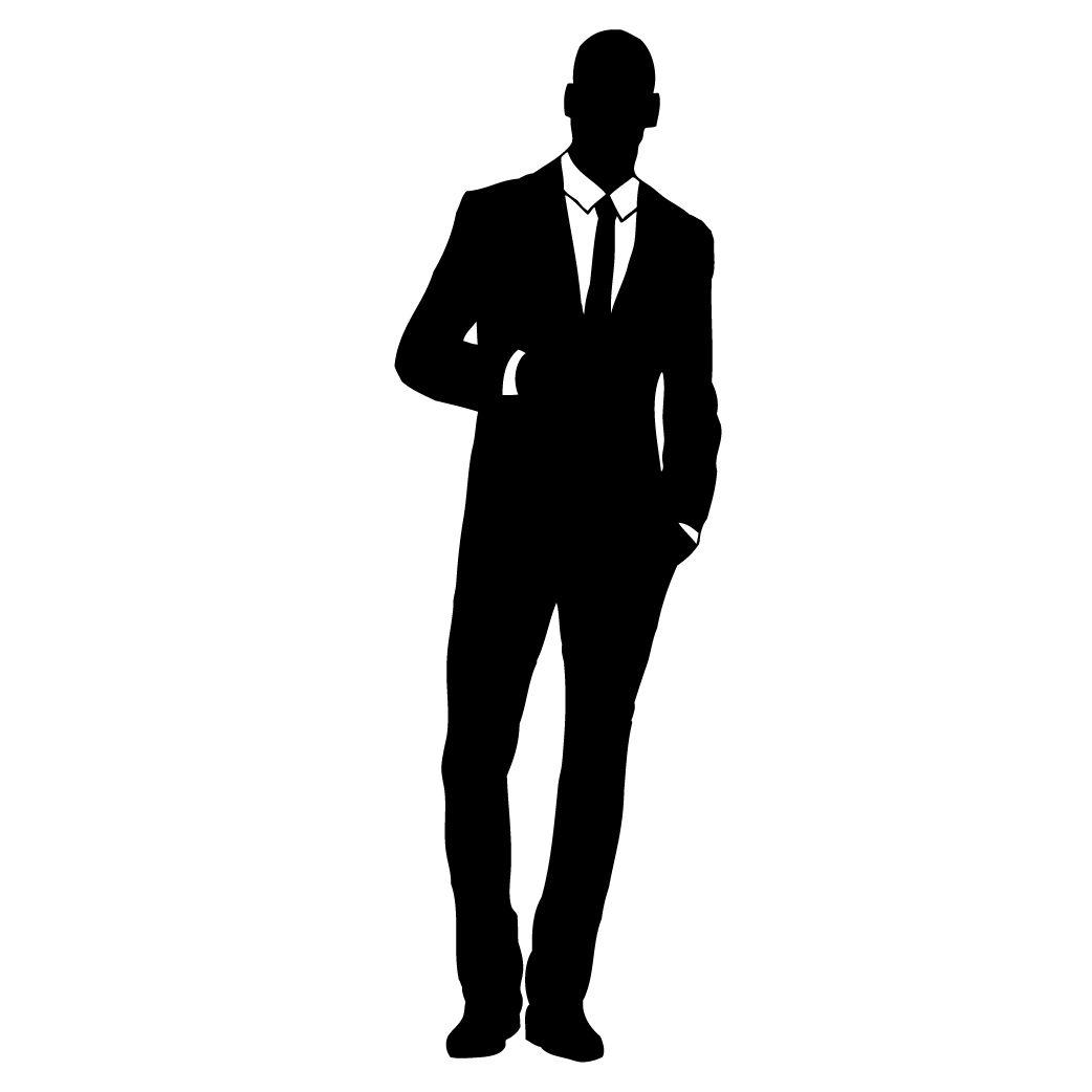 Businessman clipart silhouette, Businessman silhouette.