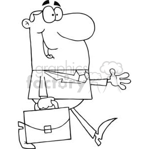 black and white businessman image clipart. Royalty.