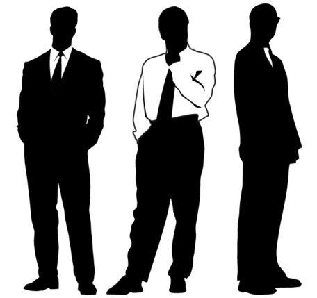 Businessman Silhouettes Clipart Picture Free Download.