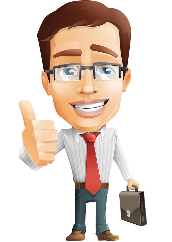 Businessman Vector Character.
