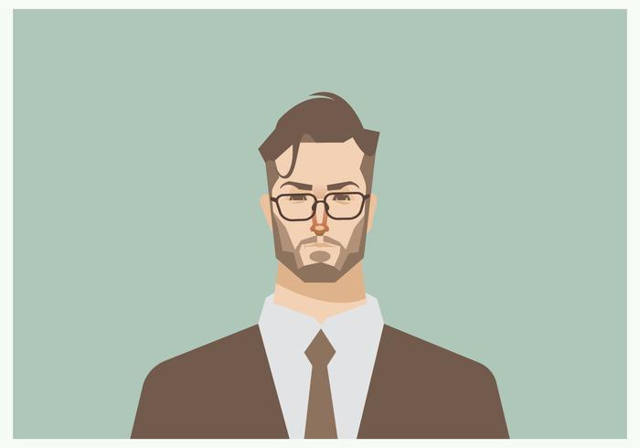 Headshot of Young Businessman Vector.
