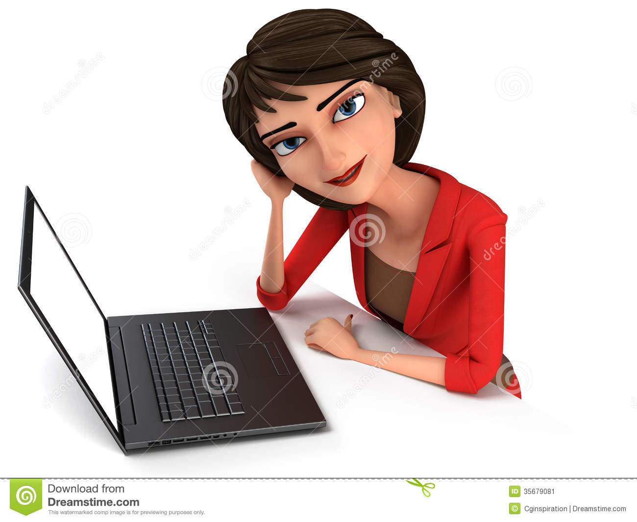 Professional business woman clipart.
