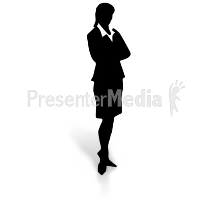 Silhouette of a Woman in a Dress Skirt.