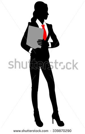 Business Woman Clipboard Stock Vectors & Vector Clip Art.