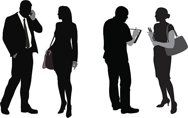 Business Woman With A Clipboard Clip Art, Vector Images.
