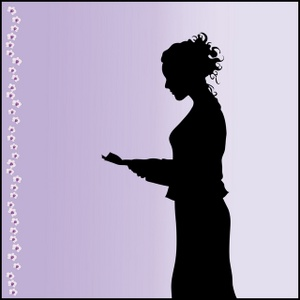 Business Woman Clipart Image.
