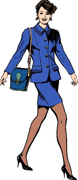 business woman cartoon.