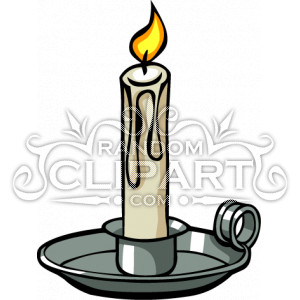 Cartoon Candle Holder Clipart.