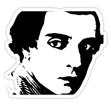 "buster keaton ."" Stickers by luckylittle."