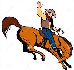 Free Bronco Busting Clipart.