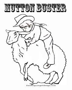 Mutton busting clip art.
