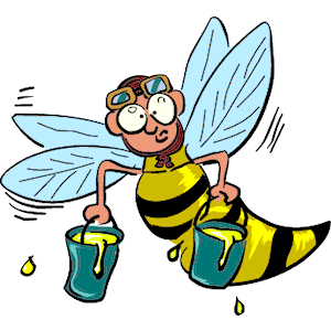 Busy bee clipart.