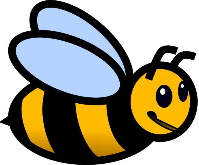 Busy bee clipart free clipart image.