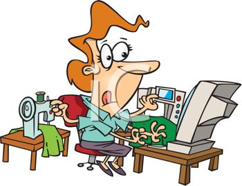 Busy Mother Clipart.