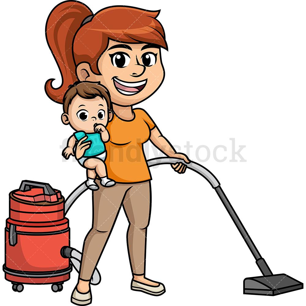 Busy Multitasking Mom.