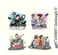 Busy People Clip Art.