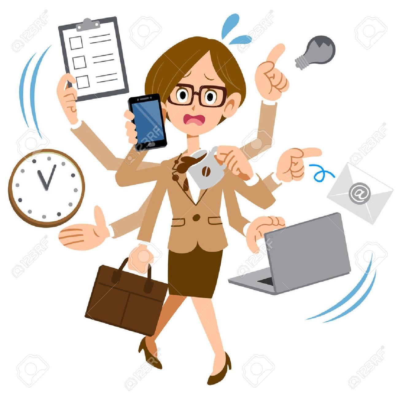 7,395 Busy Woman Cliparts, Stock Vector An #318049.