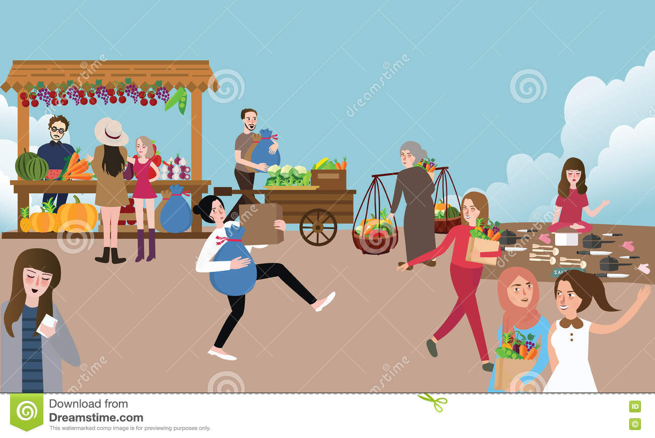Busy People Stock Illustrations.