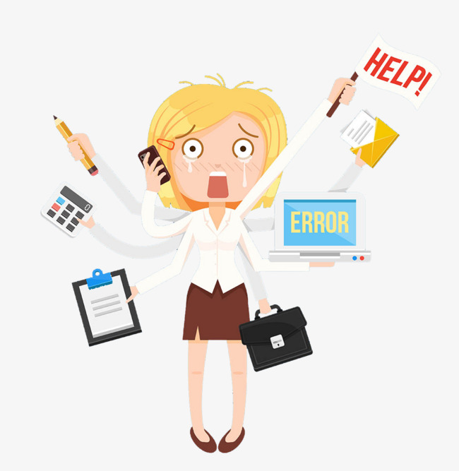 Businesswoman clipart busy, Businesswoman busy Transparent FREE for.