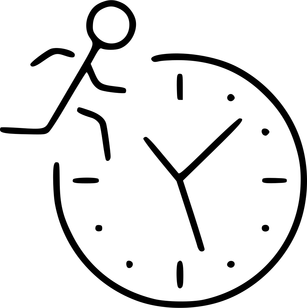Time Management Business Development Busy Movement Running Svg Png.