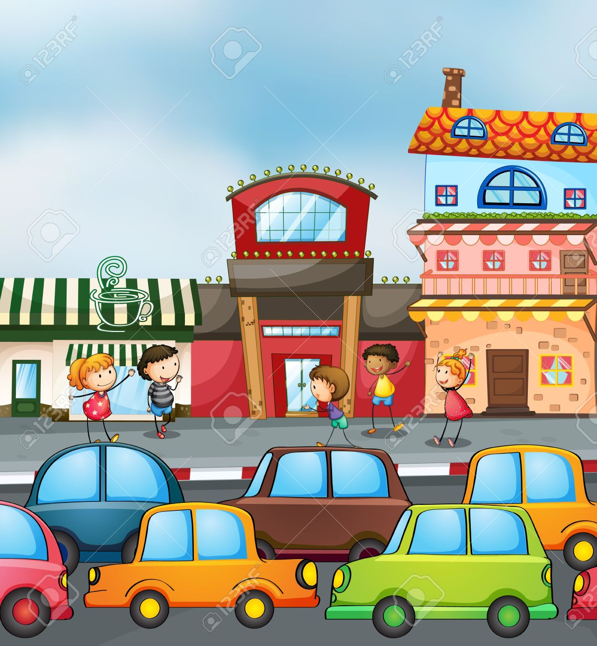 Busy Road Clipart.