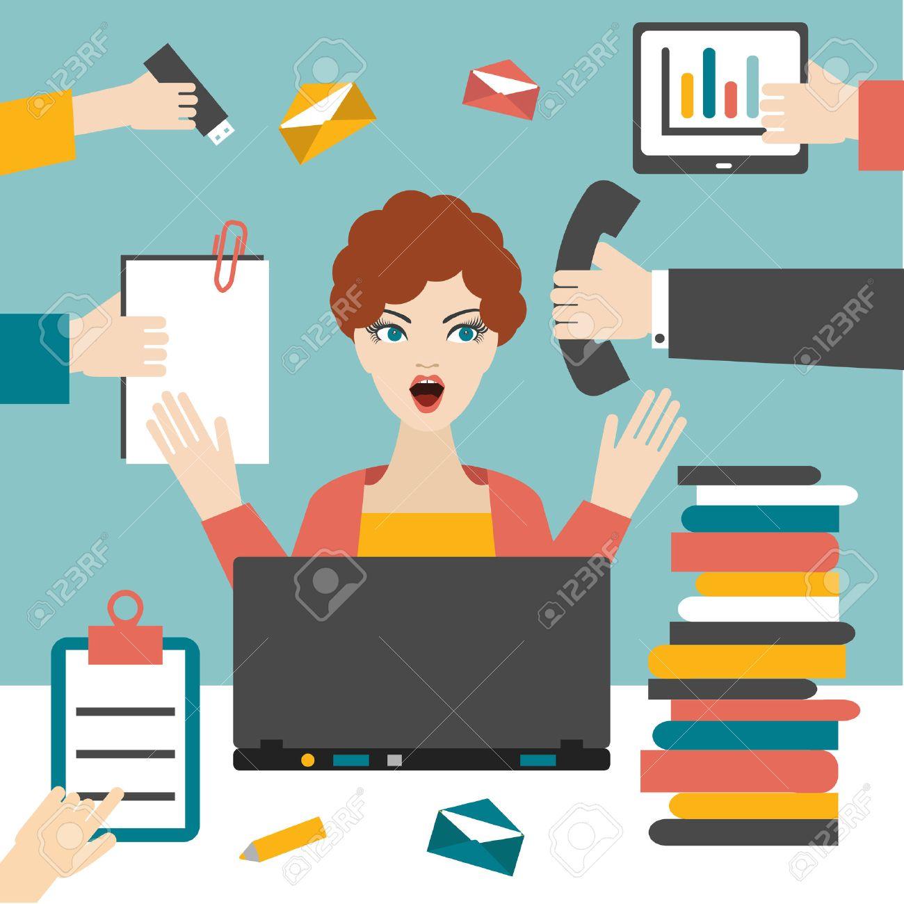 Busy Secretary Cliparts Free Download Clip Art.