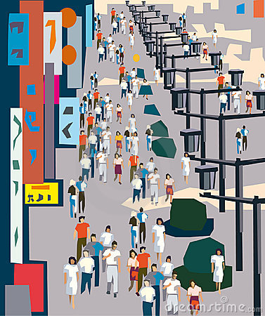 Busy city clipart.