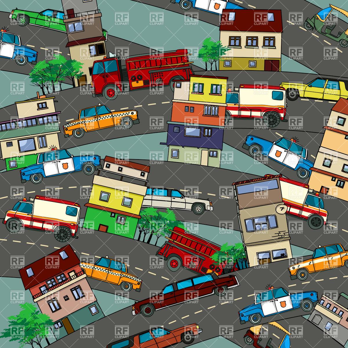 City clipart busy street city, City busy street city.