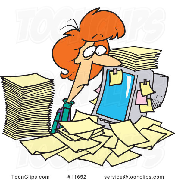 Frazzled Office Worker Clipart.