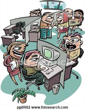 Frantic Office Worker Clipart.